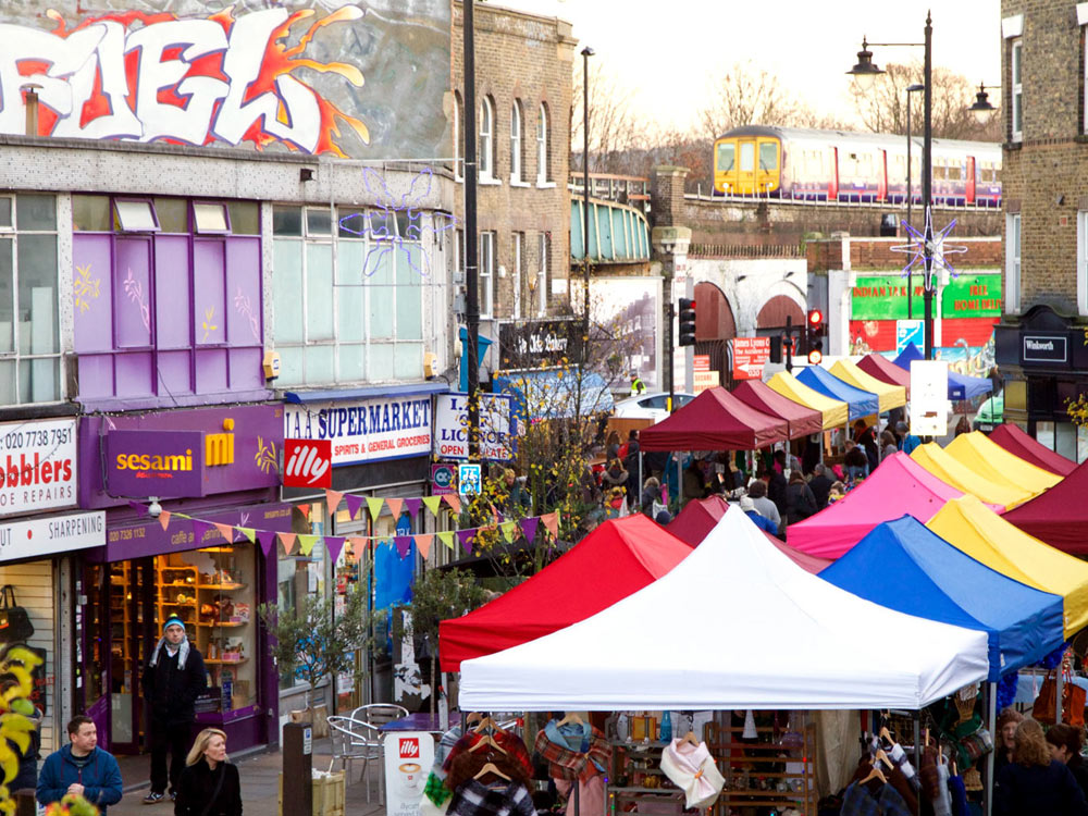Herne Hill market when it first started and was run by the Herne Hill Forum