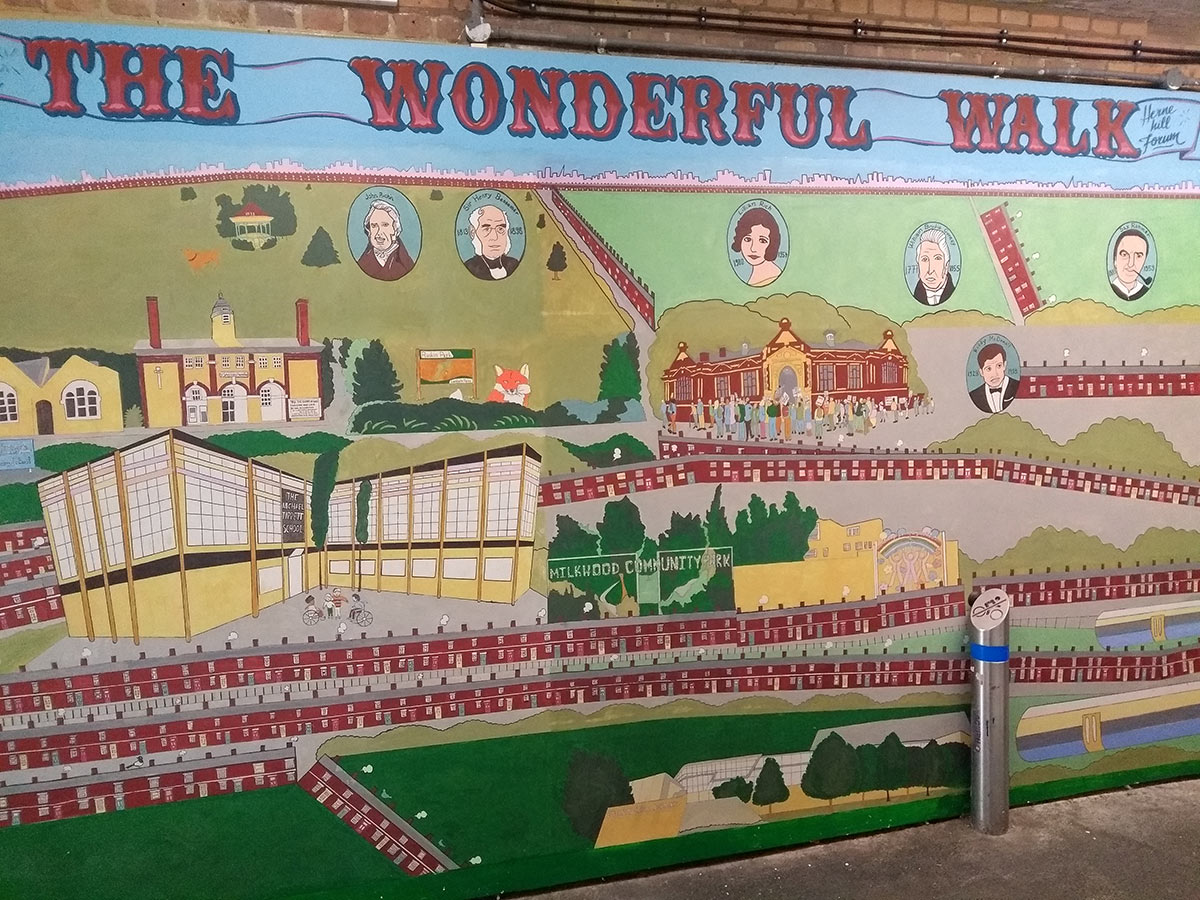 Herne Hill - The Wonderful Walk mural