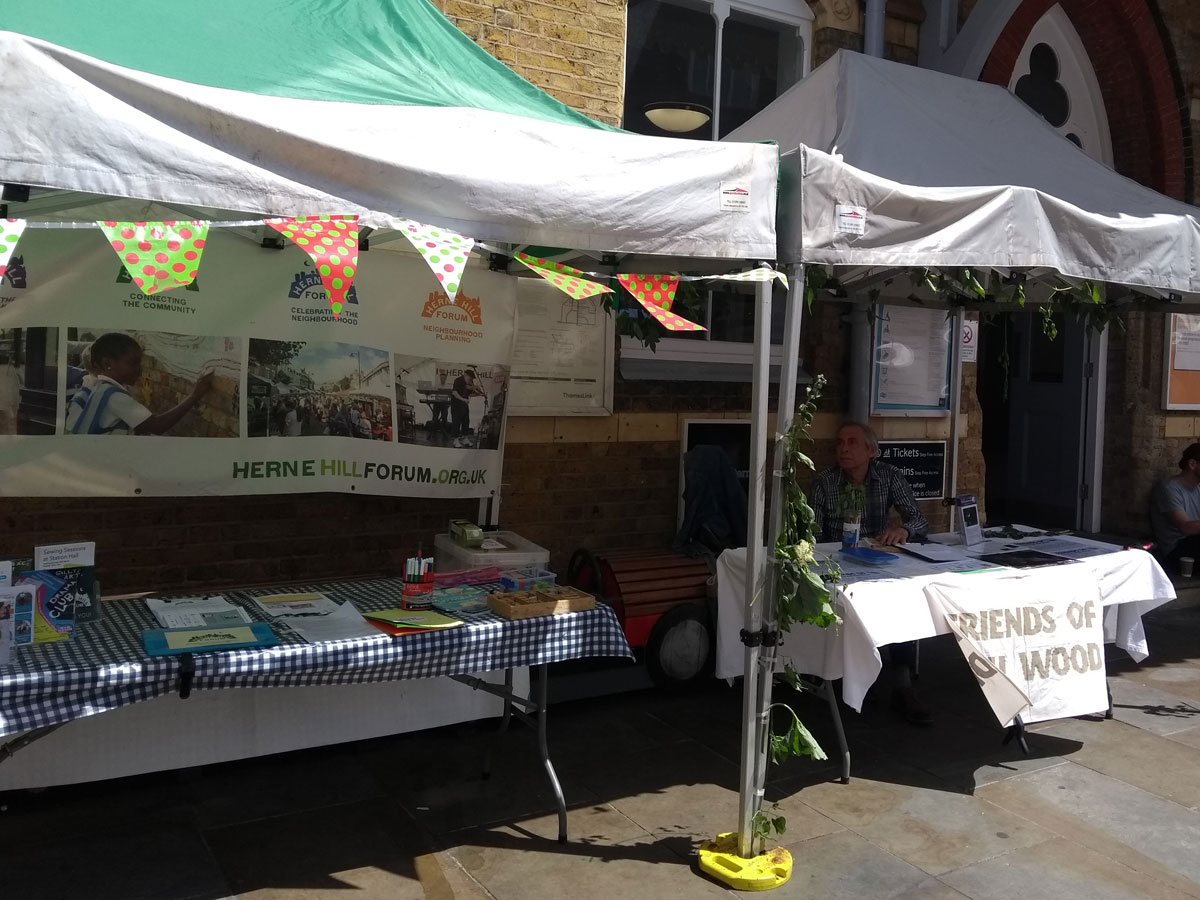 The Community Tent at Herne Hill Market in Station Square, Railton Road